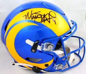 Matt Stafford Autographed Rams SpeedFlex F/S Authentic Helmet- Fanatics *Yellow