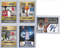 Zion Williamson Iconic Ink Rookie Phenom Limited Edition High School Rookie Card