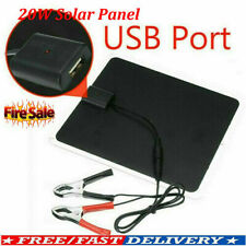 20w Solar Panel 12v Trickle Charge Battery Charger Maintainer Marine Rv Car Us