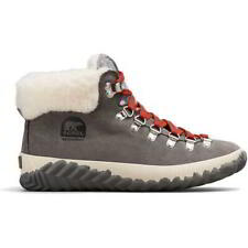 Sorel Out N About Plus Conquest Womens Grey Waterproof Walking Ankle Boots 5-8