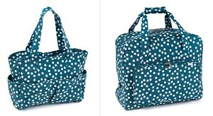 CRAFT BAGS & SEWING MACHINE BAGS  'Teal Spot' Design SUPER QUALITY