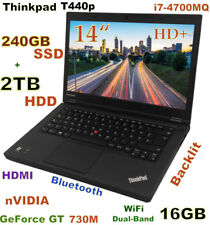 "3D-Design Thinkpad T440p i7-4700MQ (240GB-SSD + 2TB) 16GB 14"" HD+ nVIDIA"