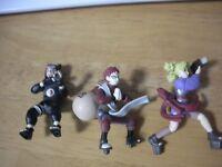 Naruto shippuden Gaara & Kankuro & Temari SET  Figure Junk used Japan