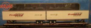 "✅ATLAS O 3-RAIL TRAILER TRAIN 89' 4"" FLAT CAR W/ PREFERRED POOL PINES TRAILERS!"