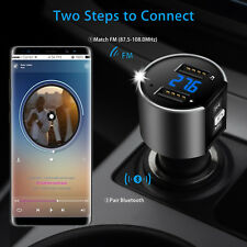 Car Kit Hands-free Wireless Bluetooth FM Transmitter MP3 Player USB Charger