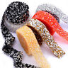 1Yard DIY Rhinestone Ribbon Sparkle Diamante Trim Sewing Craft Iron On Appliques