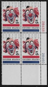 US Scott #1309, Plate Block #28458/28460 1966 Circus 5c FVF MNH Lower Right