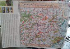 Eastern Pennsylvania Laminated Wall Map