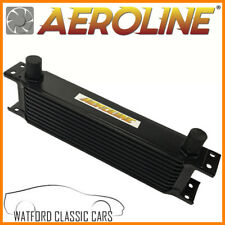 "Black  Aeroline 10 Row  Oil Cooler 1/2"" BSP For Fast Road & Race"
