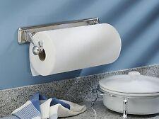 Paper Towel Holder Wall Mount Under Cabinet Dispenser Kitchen Steel Organize New
