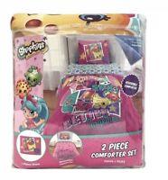 Shopkins 2 Piece TwinFull Comforter and Sham Set Kids Bedding Reversible