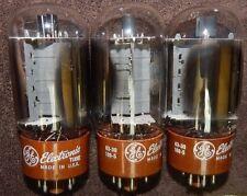 3 PIECES 7581 / KT66 GENERAL ELECTRIC SUPER TUBES NOS CONDITION MATCHED VINTAGE