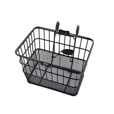 NEW Ohuhu Front Wire Mesh Bottom Lift Off Bicycle Basket Black with Bracket
