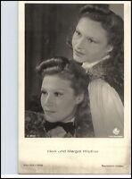 Heidi und Margot Höpfner 1950/60 Porträt-AK Film Bühne Theater Schauspieler