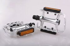 Wellgo M21 - Flat / Platform Mountain Bike Pedals - Silver