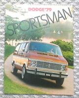 1979 DODGE SPORTSMAN VAN Brochure w/ Color Chart : B-100,B-200,B-300,MAXI,B100,
