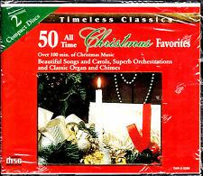 50 All Time Christmas Favorites BRAND NEW FACTORY SEALED 2-CD SET (1995, Madacy)
