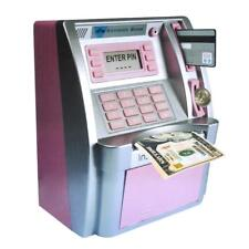 Kids Girls Gifts Toy Atm Savings Bank Money / Coin Cash Point Bank Machine Pink