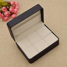 Mens Jewelry Cases Empty Gift Storage Box Cufflinks Tie Clips Holder Display