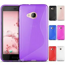 """For  HTC U Play 5.2"""" S Curved Soft Gel TPU Case Cover"""