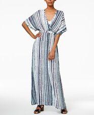 Bar III Striped Maxi Dress Cobalt Glaze Combo XS  ______________________ R23-2