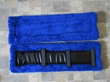 Harness Pads Draft Backband Fake Fur Royal Blue Team pair