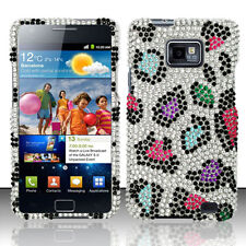 For Straight Talk Samsung Galaxy II 2 S959G BLING Case Cover Colorful Leopard