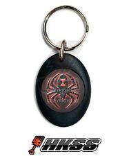 Black Oval Custom Logo Both Sides Keychain Ring Fob Each - Widow Spider Rb W8I