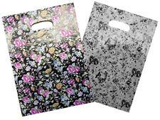 NEU 50 Plastiktüten Tragetaschen Einkaufstaschen im Blumen Bunt Look 30x39cm TOP