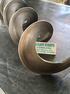 Spirale(coclea) metallica da 80x80x22x3x1.7 rotazione destra carico stufa 1 mt