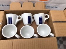 12 Lavazza Espresso Cups with Blue Box Logo (tazza Coffee Senza Piatto) 20002124