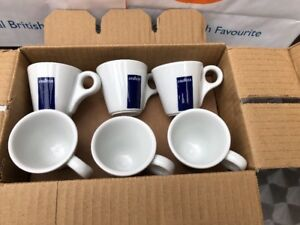 6 Lavazza Espresso Cups Only Blue Box Logo (tazza Coffee Senza Piatto) 20002124