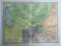 Map Of Central Asia Large 1930 Persia Turkistam Afghanistan caspian Sea