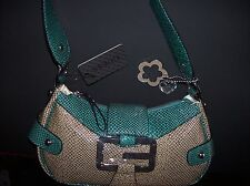 GUESS Purse Handbag Womens Hobo Style Western Jade Multi Charms Heart Flower NWT