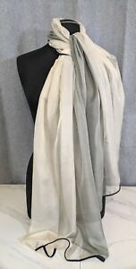 "Lovely Vintage Steel Colour Poly Long Scarf by Parfois  29""x 74"""