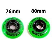 8 Hi-Lo 76mm 80mm Outdoor Inline Skate Wheels Rollerblade Roller Hockey 90A HARD