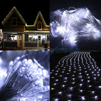 300 LED Net Mesh Fairy String Light Christmas Wedding Party Xmas Tree-Wrap White