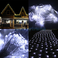 300 LED Net Mesh Fairy String Light Christmas Wedding Party Xmas Tree Wrap White