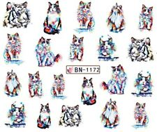 Nail Art Stickers Water Decals Transfers Cats Tigers (BN1172)