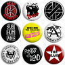 Punk Rock Badges - Various Designs - 25mm Button Badge with Fridge Magnet Option