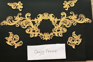 1 x GOLD Candy Frame Cake Lace. Colours are Rose Gold, Soft Gold, Pearlised Gold