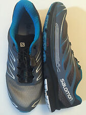 Men's Salomon Shoes Sense Mantra 3 Black & Blue Running Shoe Size 8.5
