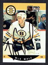 Wes Walz #589 signed autograph auto 1990-91 Pro Set Hockey Trading Card