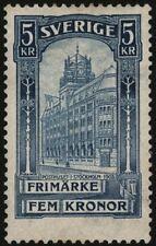 Sweden 1903 5k, Stockholm Post Office , Sc66 Mi54 Yv50 , MNH With Certificate