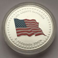 2001 UNITED STATES FLAG 225 YEARS OLD GLORY BALD EAGLE SILVER MEDAL