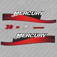 Mercury 30 hp Two Stroke outboard engine decals sticker set reproduction 30HP