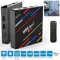 H96 Max Smart TV Box RK3328 Android 8.1 4GB+32GB/64GB UHD 4K Media Player USB3.0