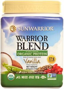 Warrior Blend Plant Based Organic Protein by Sunwarrior, 375 gram Vanilla