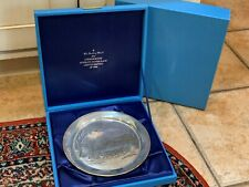 Danbury Mint 1976 Currier & Ives Sterling Silver 4743 American Winter Plate Box