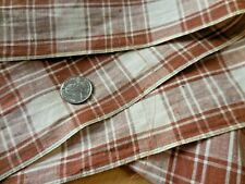 2Y Vintage Farmhouse Woven Cotton Plaid Fabric 35W Yardage Cinnamon Brown #368